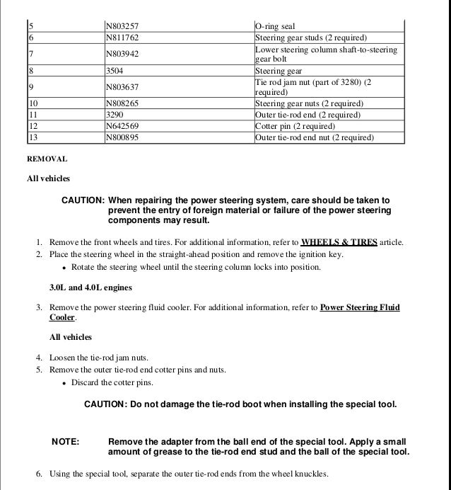 2000 FORD RANGER Service Repair Manual