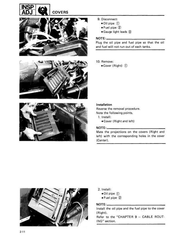 1990 Yamaha Exciter 570 Snowmobile Service Repair Manual