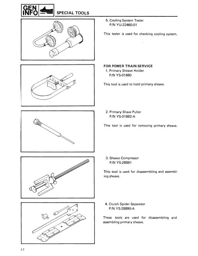 1988 Yamaha Exciter 570 Snowmobile Service Repair Manual