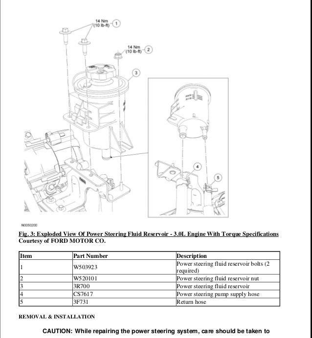 2004 ford ranger parts manual