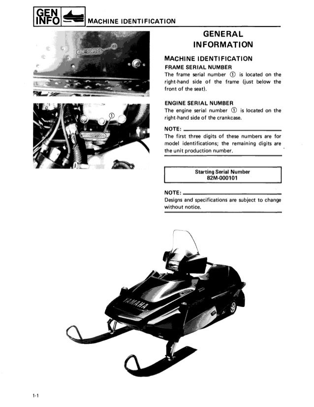 1987 yamaha exciter 570 snowmobile service repair manual rh slideshare net Yamaha Exciter SX Yamaha Exciter II