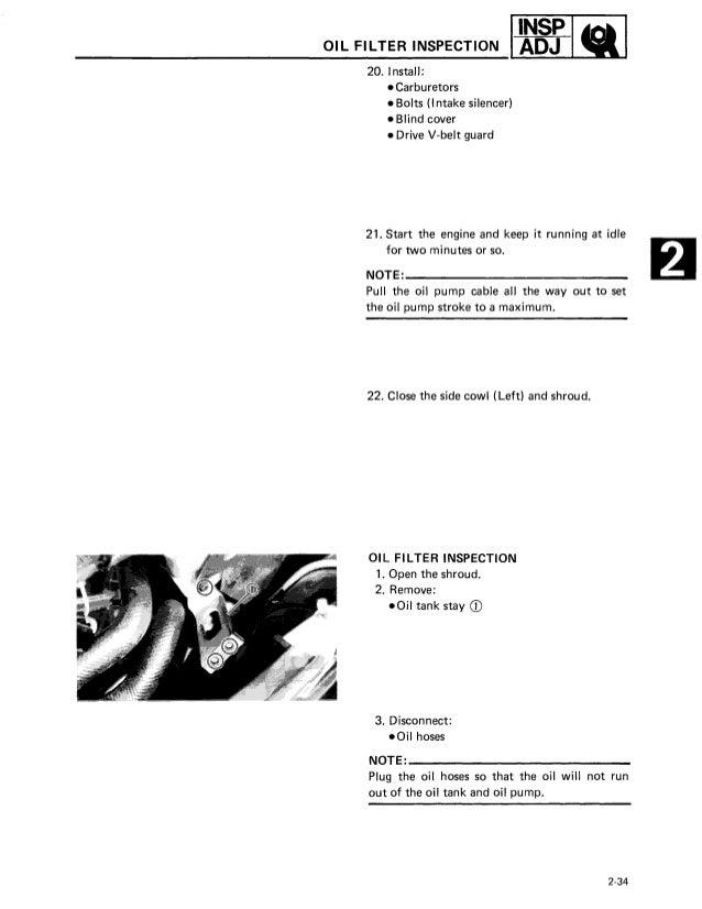 1989 Yamaha Exciter 570 Snowmobile Service Repair Manual