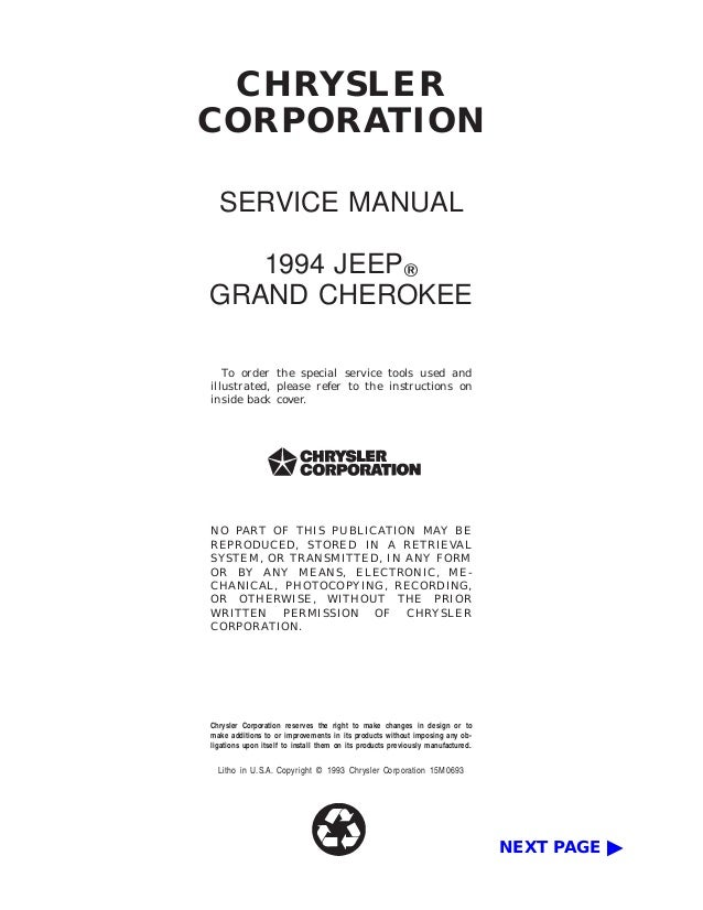 1994 jeep grand cherokee limited owners manual