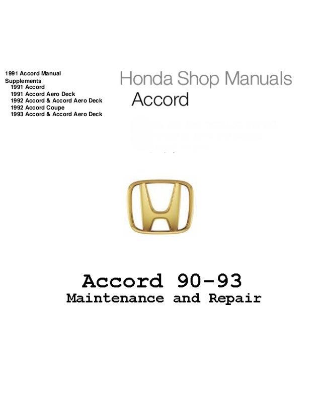 [DIAGRAM_1CA]  1992 Honda Accord Service Repair Manual | 1992 Honda Accord Lx Engine Schematics |  | SlideShare