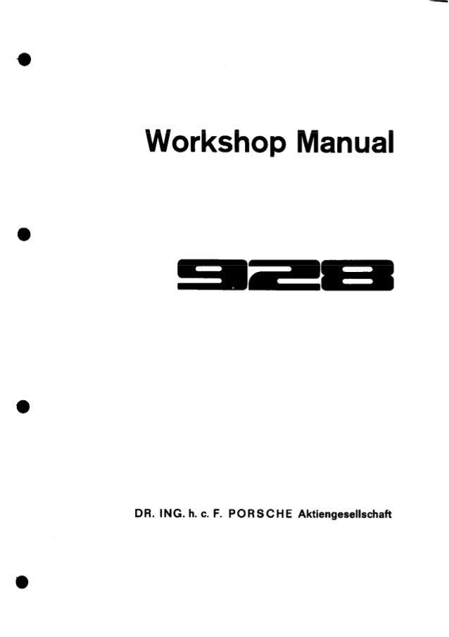 1989 Porsche 928 Service Repair Manual