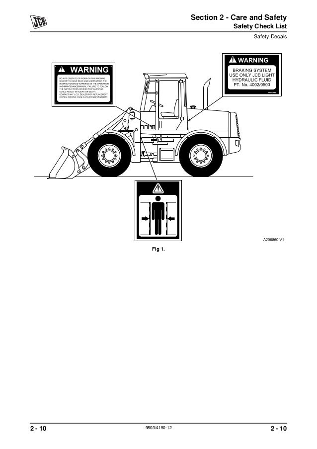 JCB 411 WHEELED LOADER Service Repair Manual SN:M1241500