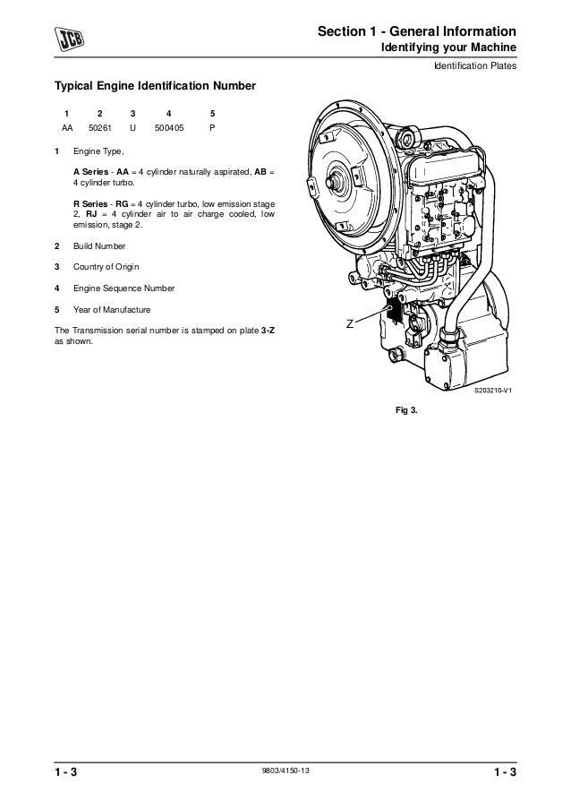 JCB 411 WHEELED LOADER Service Repair Manual SN:M1241500