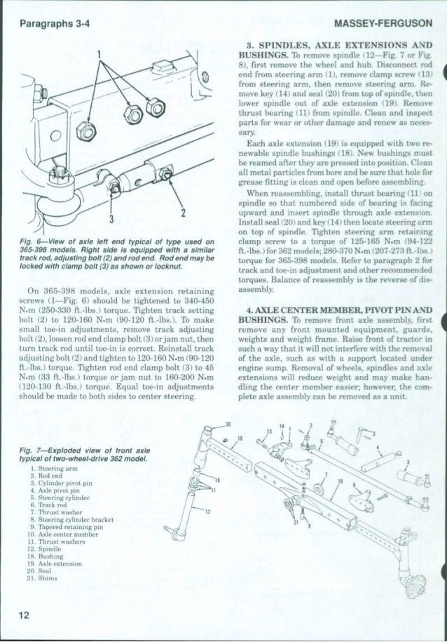 MASSEY FERGUSON MF398 TRACTOR Service Repair Manual