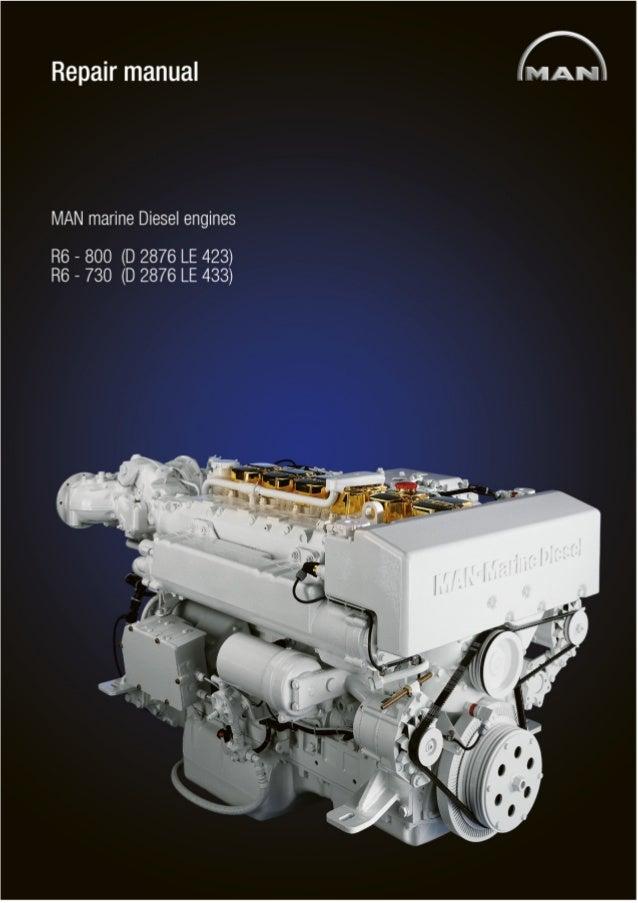 MAN MARINE DIESEL ENGINES R6-800 SERIES Service Repair Manual