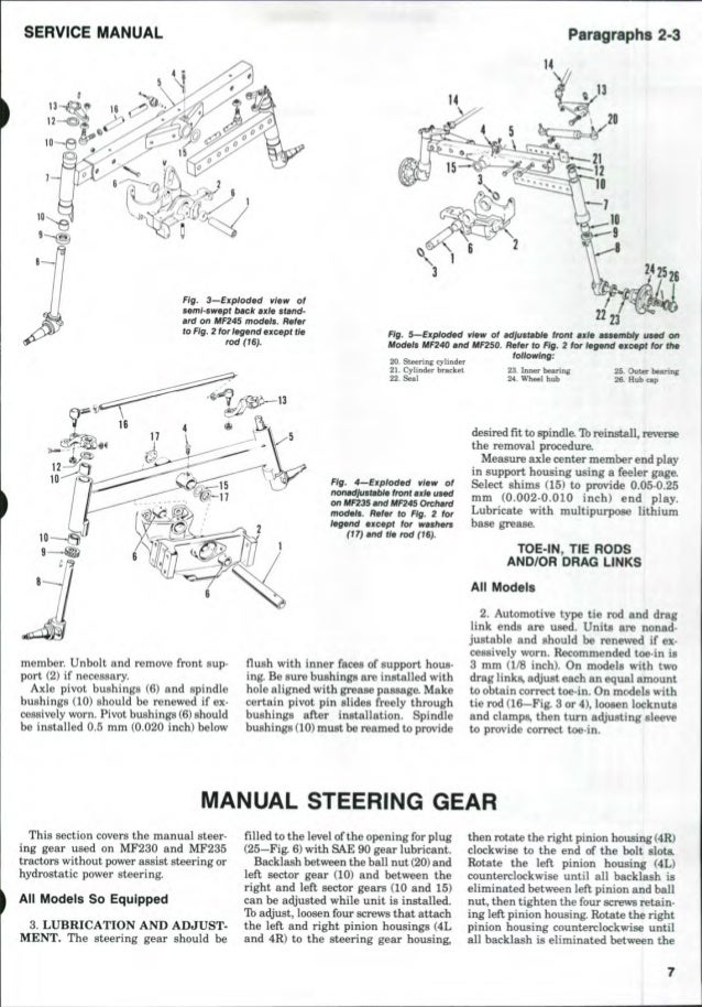 massey ferguson mf 240 tractor service repair manual. Black Bedroom Furniture Sets. Home Design Ideas