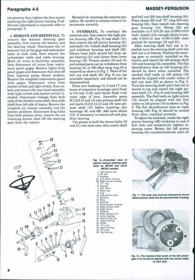Massey Ferguson MF 240 Tractor Service Repair Manual