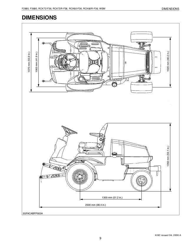 KUBOTA F3680 FRONT CUT RIDE ON MOWER Service Repair Manual