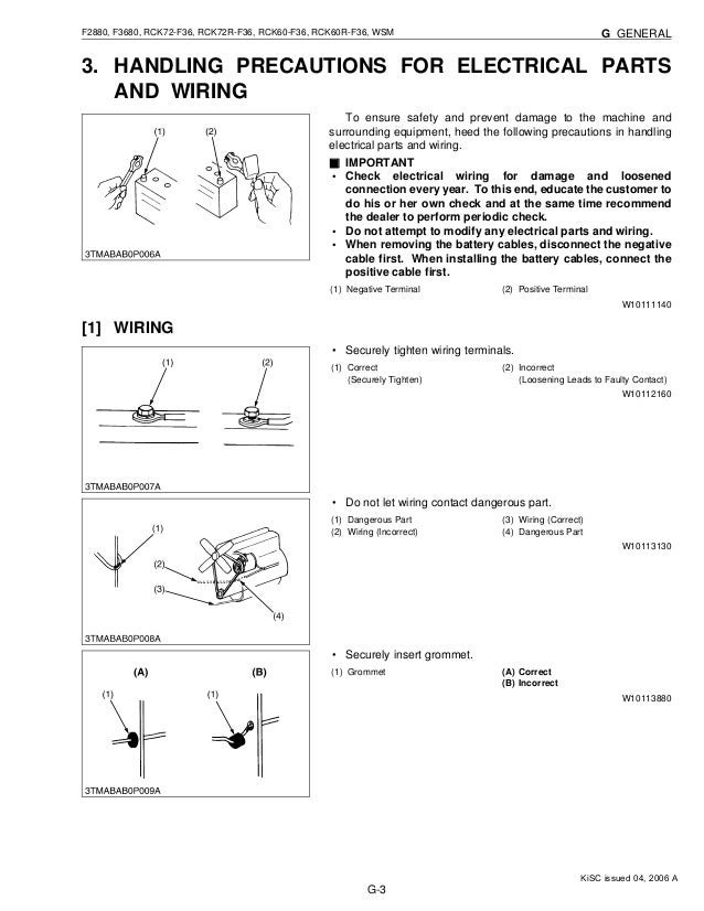kubota f3680 front cut ride on mower service repair manual kubota rotary sweeper kubota f3680 wiring diagram #15