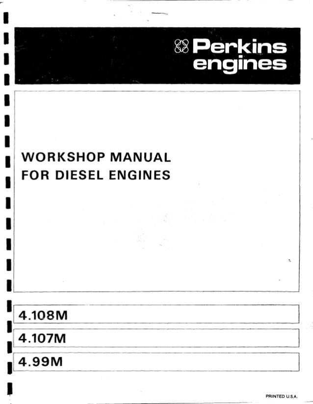 Perkins 4 107m Diesel Engine Service Repair Manual