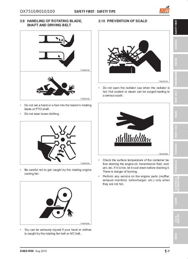 Kioti Daedong DX100 Tractor Service Repair Manual