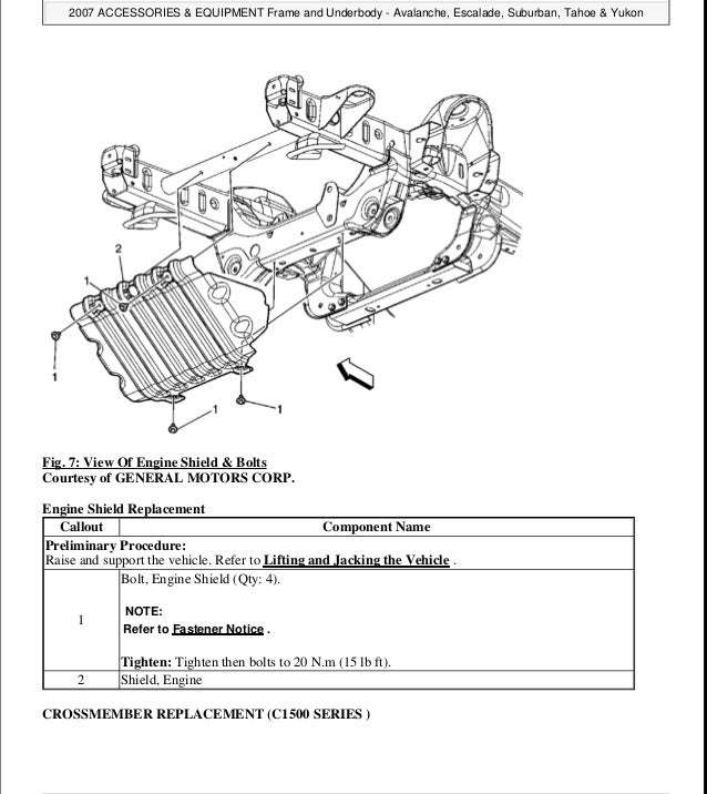 2008 Chevrolet Avalanche Service Repair Manual