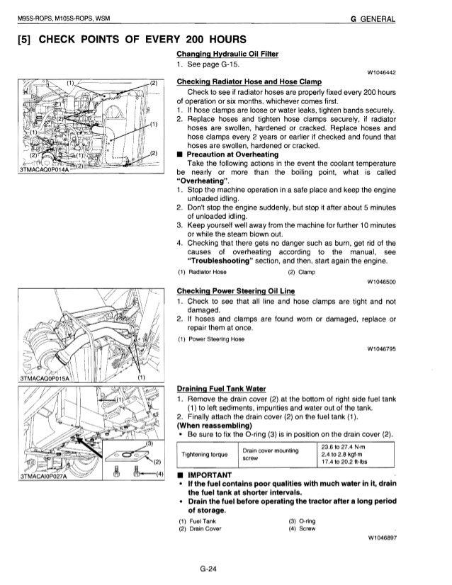 Kubota M95S Tractor Service Repair Manual