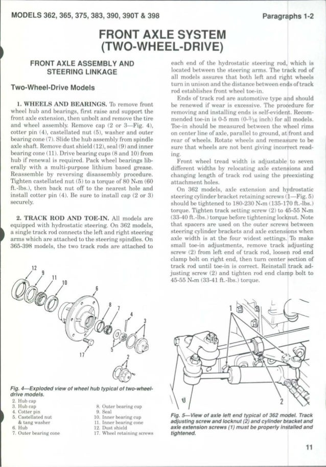 MASSEY FERGUSON MF383 TRACTOR Service Repair Manual