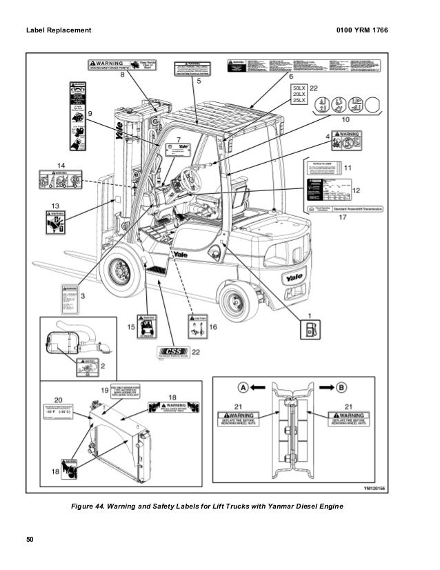 YALE B974 GLP25LX LIFT TRUCK Service Repair Manual
