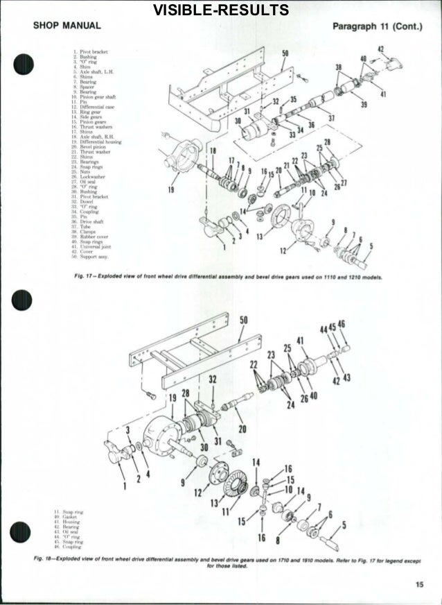 Ford 1100 Tractor Service Repair Manual