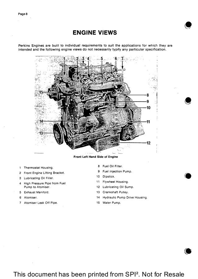 PERKINS 4.2032 DIESEL ENGINE Service Repair Manual