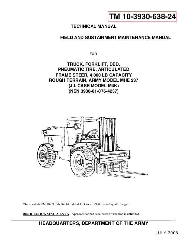 caswe 2 7t rough terrain forklift manual