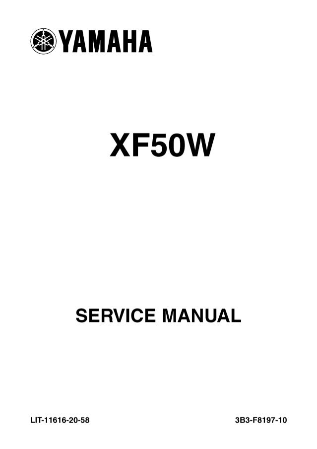 2011 Yamaha C3 Scooter XF50AW Service Repair Manual