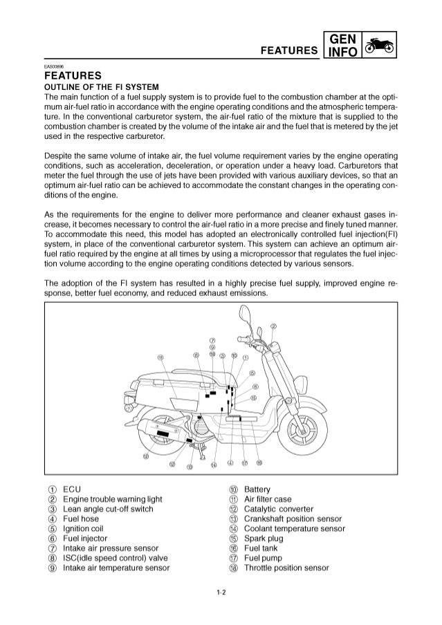 2011 Yamaha C3 Scooter XF50AW Service Repair Manual on