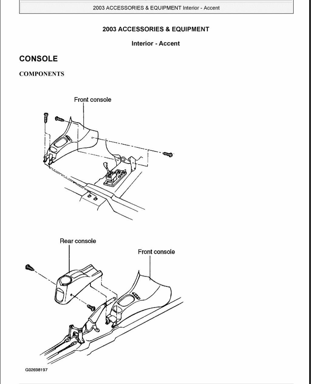 2005 Hyundai Accent Service Repair Manual