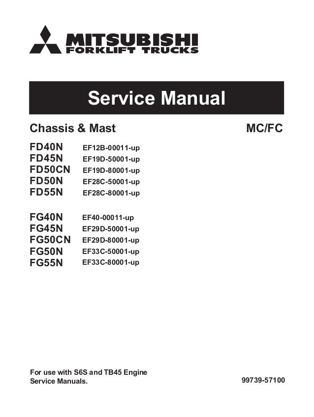 mitsubishi fg55n forklift trucks service repair manual sn ef33c 8000 rh slideshare net 1984 Mitsubishi Diesel Truck 4x4 Mitsubishi Pickup History