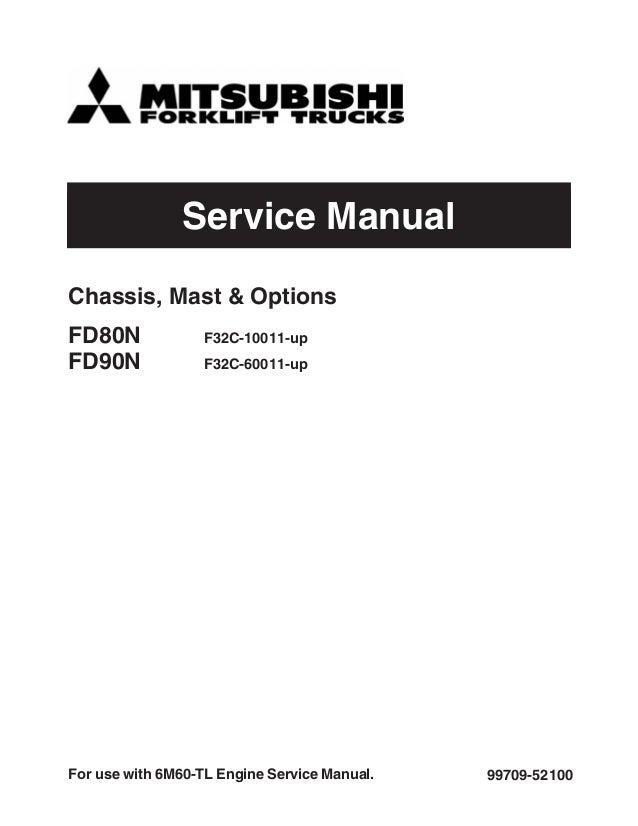 mitsubishi fd90n forklift trucks service repair manual sn f32c 60011 rh slideshare net 1997 Mitsubishi Montero Sport Manual Mitsubishi Lancer Automatic or Manual
