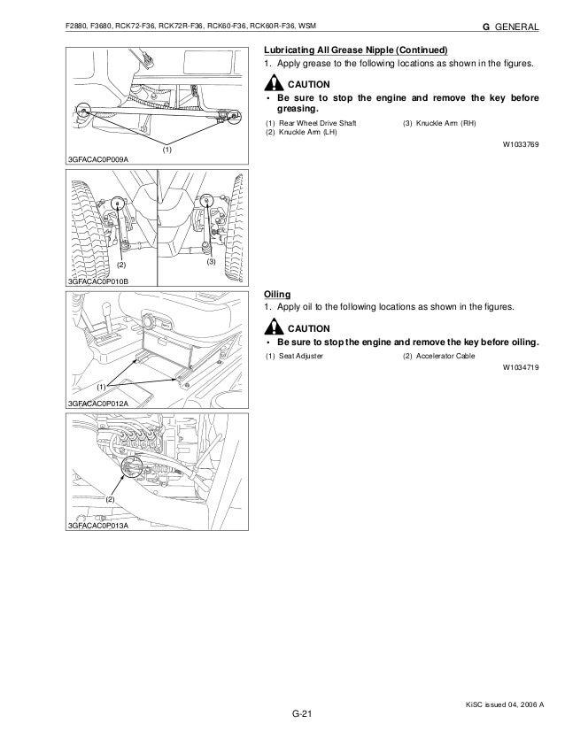 kubota f2880 front cut ride on mower service repair manual rh slideshare net Kubota F3680 100' Deck Kubota Mower with Cab