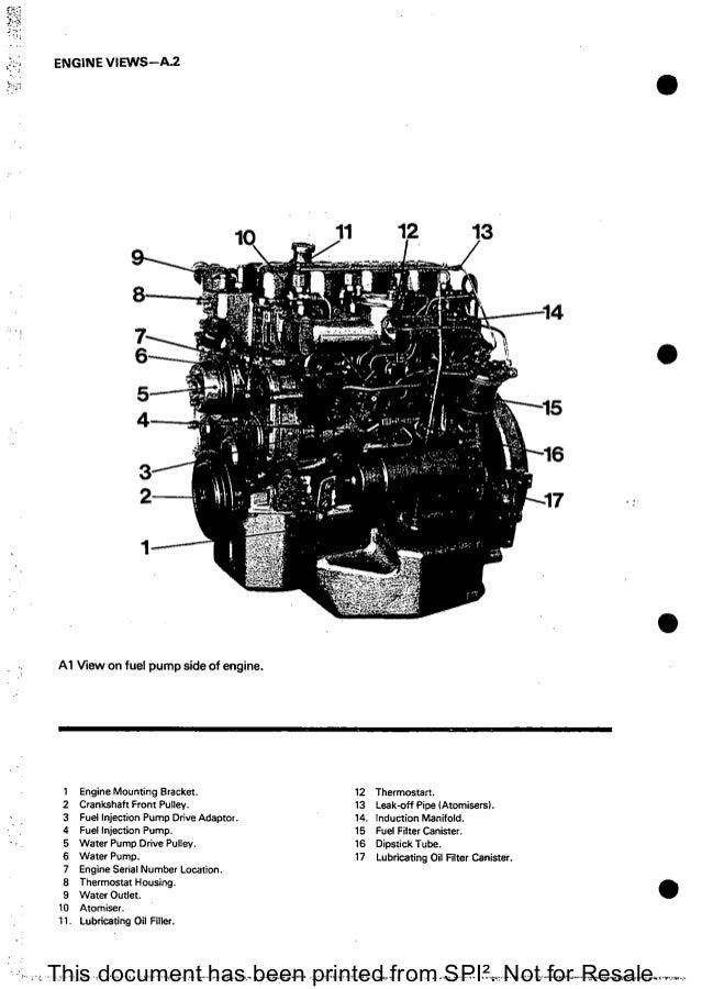 PERKINS 4.165 DIESEL ENGINE Service Repair Manual