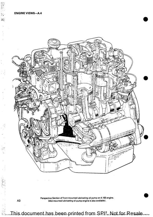 PERKINS 4.165 DIESEL ENGINE Service Repair Manual