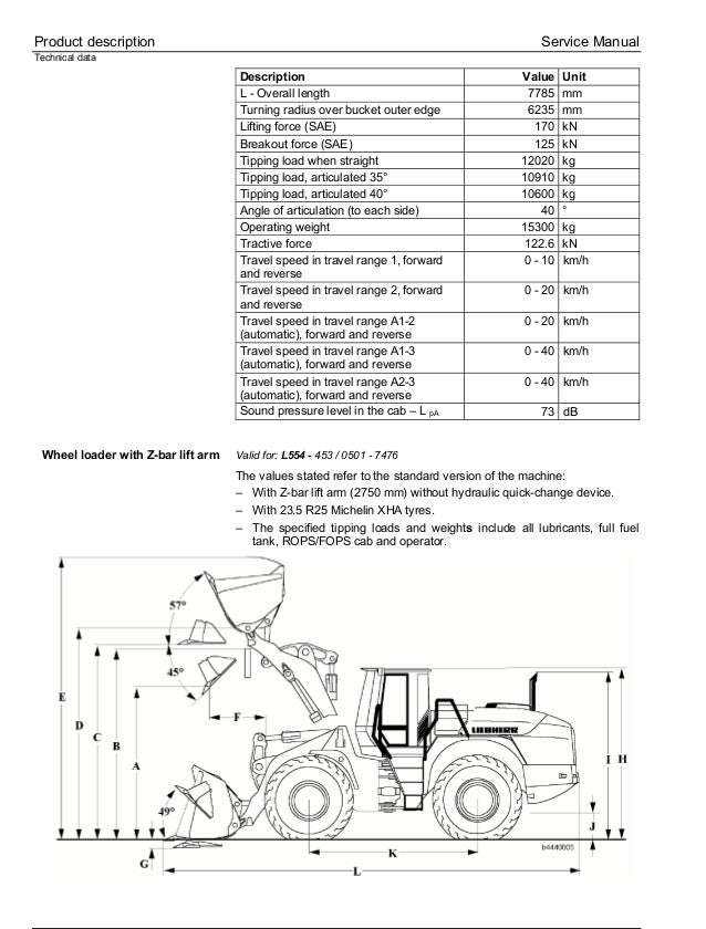 Liebherr L554-453 Wheel Loader Service Repair Manual SN