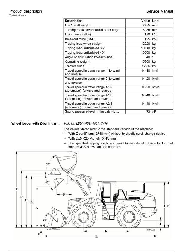 Liebherr L554-453 Wheel Loader Service Repair Manual SN