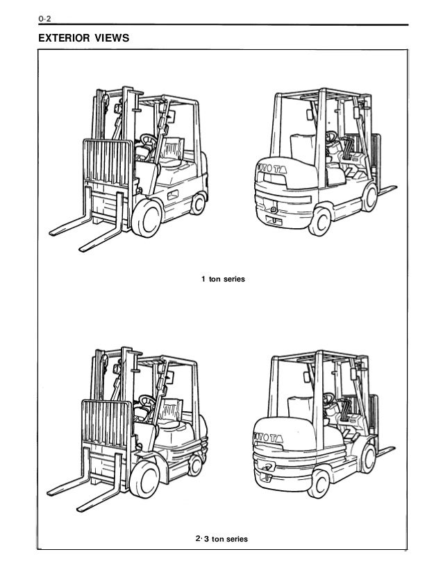 Toyota 42-6FGCU30 Forklift Service Repair Manual