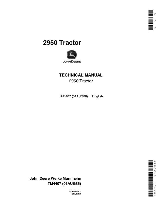 john deere 2950 tractor service repair manual rh slideshare net John Deere 2950 Parts John Deere 2950 Parts