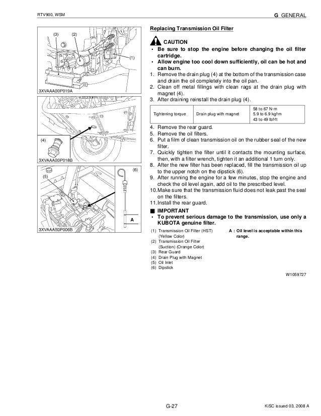 kubota rtv900 utility vehicle utv service repair manual Kubota RTV 900 Schematic