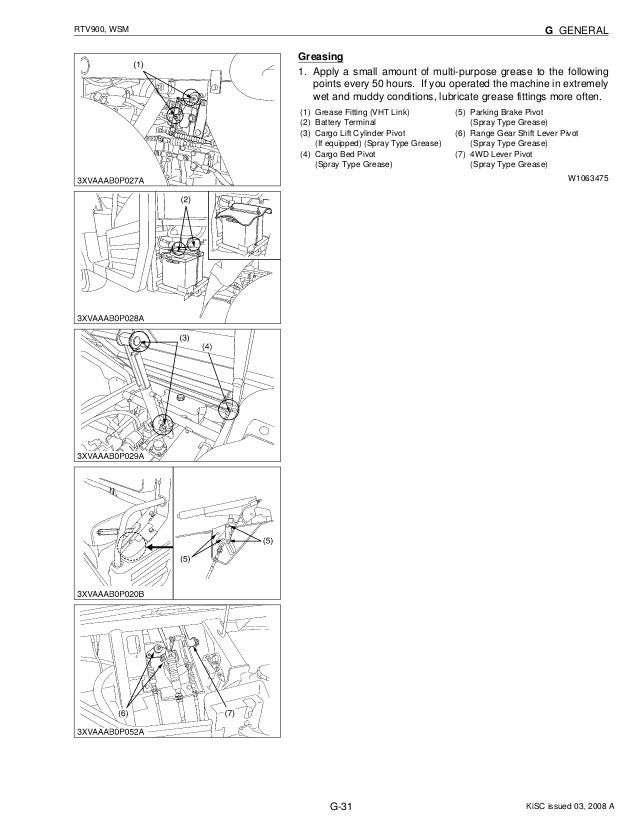kubota rtv900 utility vehicle utv service repair manual kubota rtv 1100 battery kubota rtv 900 parts diagram #4