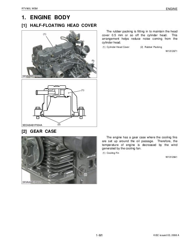 kubota rtv900 utility vehicle utv service repair manual rh slideshare net  kubota rtv 900 engine diagram