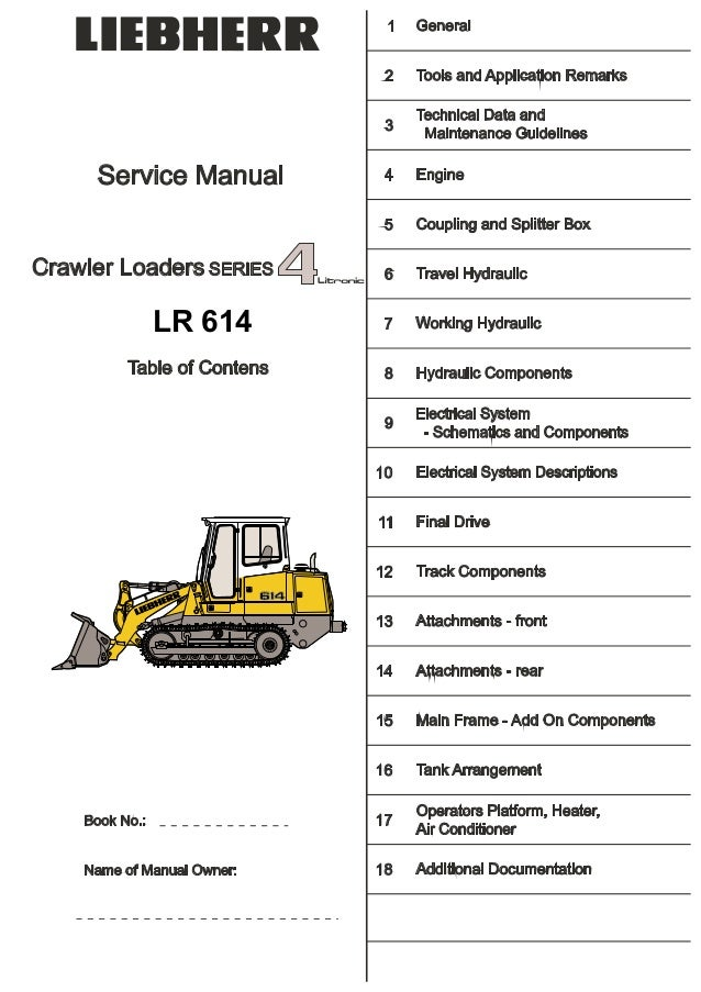 Liebherr Lr 614 Lr614 Crawler Loader Series 4 Litronic Service Repair\u2026rhslideshare: Key Switch Wiring Diagram Liebherr At Elf-jo.com