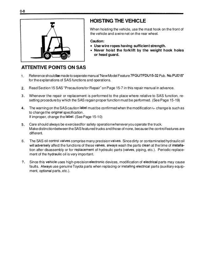 Toyota 7fgcsu20 Forklift Service Repair Manual Rh Slideshare Net