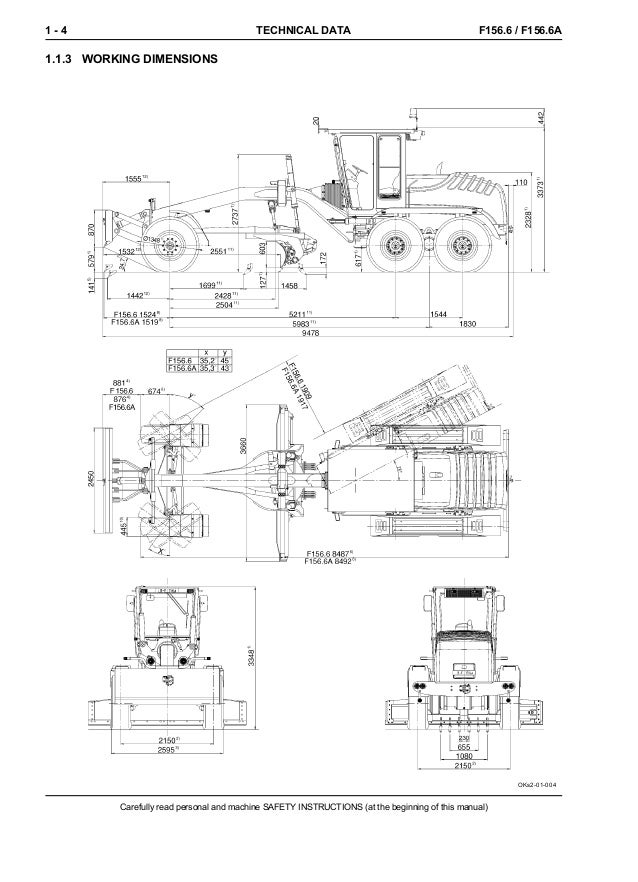 NEW HOLLAND F156.6 GRADER Service Repair Manual
