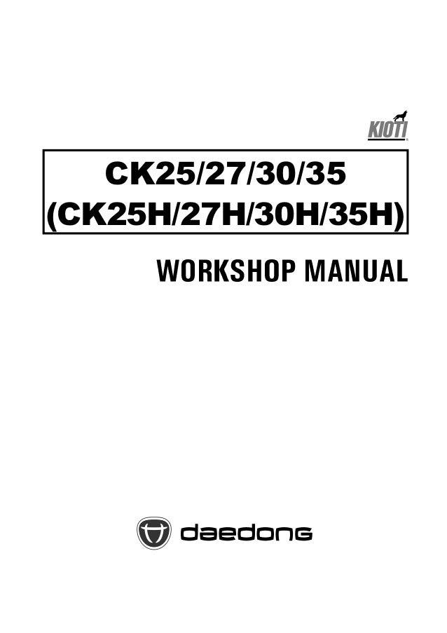 kioti daedong ck25 ck27 ck30 ck35 tractor supplement workshop service repair manual