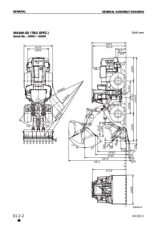 Komatsu WA600-3D Avance Wheel Loader Service Repair Manual