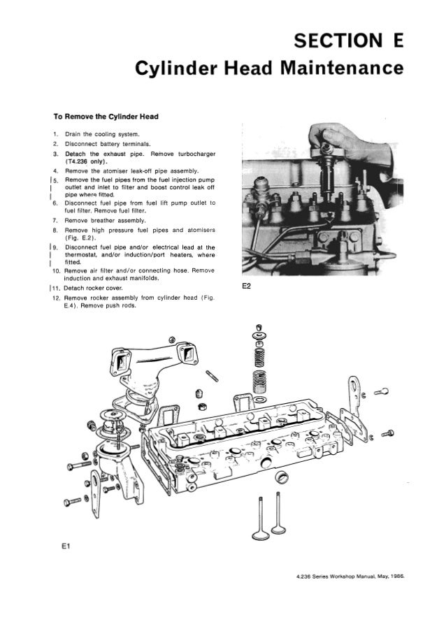 PERKINS T4.236 DIESEL ENGINE Service Repair Manual