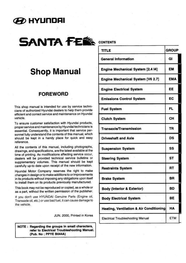 2005 Hyundai Santa Fe Wiring Schematic Database - Wiring ...