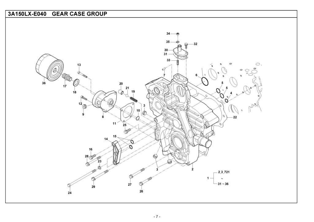 Kioti Daedong CK35H Tractor Parts Catalogue Manual