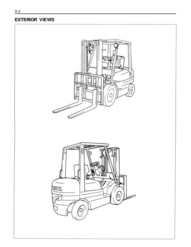 Toyota 42-6FGU25 Forklift Service Repair Manual